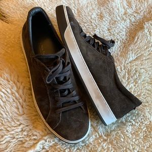 To Boot New York Chocolate Suede Sneakers 13